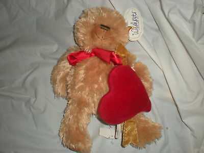 Wishpets Brown Bear Heart Plush 2006 Lindsey Wish