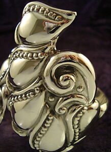 TAXCO-MEXICAN-STERLING-SILVER-CLAMPER-BRACELET-MEXICO