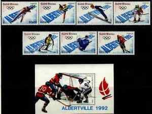 Guinea-Bissau Sc 772-79 MNH Olympics Value $ 32.45