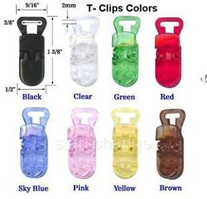 25-Baby-Pacifier-Badge-T-Clips-Bib-Holder-U-PICK-COLOR