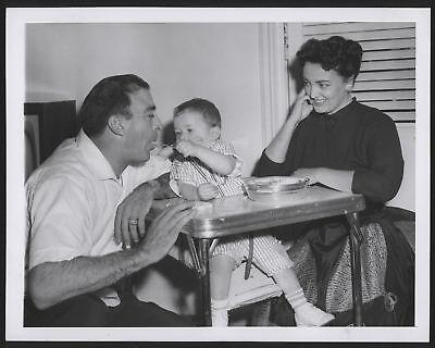 1957 Orig 1St Gen Press Photo Sal Maglie  Family  Yanks