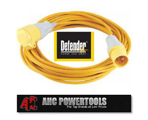 Defender 110v 16A 10m Extension Cable Lead - E85118