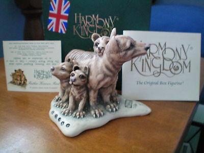 Harmony Kingdom Father Knows Best Tasmanian Tigers UK Made Box Figurine NIB