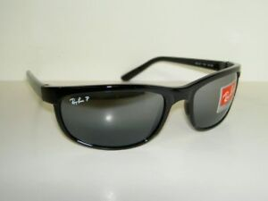 New-RAY-BAN-Sunglasses-PREDATOR-2-BLACK-FRAME-RB-2027-601-82-Polarized