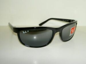 New-RAY-BAN-Sunglasses-PREDATOR-2-BLACK-FRAME-RB-2027-601-82-Polarized