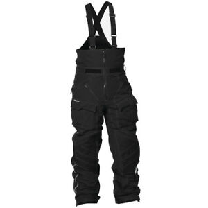 Mens-XL-Castle-X-Factor-Snowmobile-Bib-Snow-Pants-Bibs-Black-73-0518-XLG-Riding