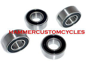 MOTORCYCLE-WHEEL-BEARINGS-4PC-1-INCH-SEALED-HBC-HARLEYS-REPLACES-HD-9247