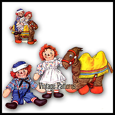 Raggedy Ann  Andy - Cross Stitch Patterns  Kits