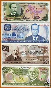 Costa-Rica-Obsolete-Set-5-10-20-50-colones-UNC