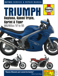Triumph-Daytona-955i-Sprint-Speed-Triple-Tiger-T509-T595-Haynes-Manual-3755-NEW