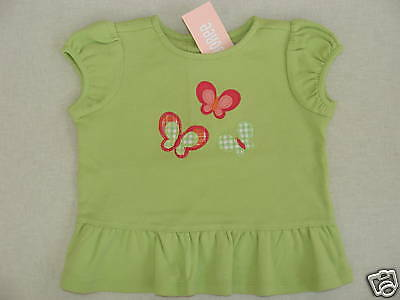 Gymboree Butterfly Spring Green Swing Butterfly Top Shirt 12-18