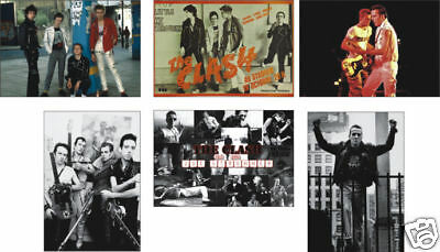 The Clash Joe Strummer 6 Card POSTCARD Set