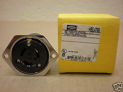 Hubbell Hbl4785 4785 Nema L7-15r 277v Flanged Receptacle 15 Amp 2p 3w 277v