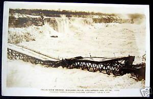 Niagara Falls NY~1938 FALLS VIEW BRIDGE COLLAPSE ~ RPPC