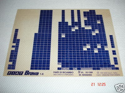 FIAT BRAVA 1.8 PARTS MICROFICHE FULL SET OF 1 - DATED MARCH 1996 3a ED.