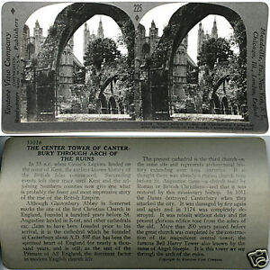 Keystone-Stereoview-of-the-CANTERBURY-Cathedral-ENGLAND-From-600-1200-Card-Set