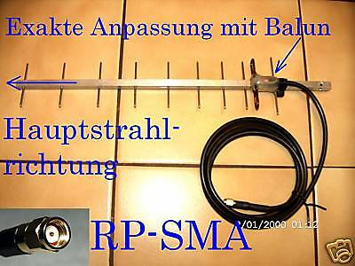 Rp-sma Stecker Antenne (Super WLAN Antenne Richtantenne Yagi RP SMA Stecker 2,6 m Kabel)