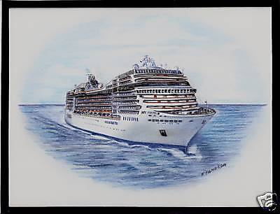Original Art Work     Msc  Poesia    Msc    Cruise Ship