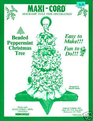 Craft Books: 969 Macrame Peppermint Christmas Tree