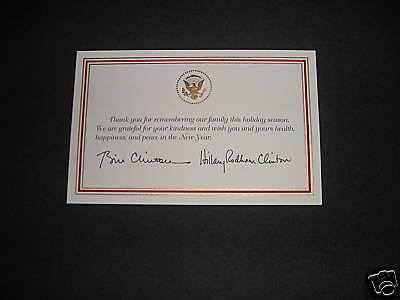 White House President Bill Clinton Christmas Card