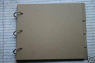 9 Page Bare/unfinished Chipboard Tabbed Album 6 7/8 X 6
