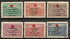 Albania-1946-MI-385-390-RED-CROSS-MLH-VF