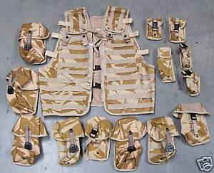 NEW-Desert-Army-Issue-Osprey-Modular-MOLLE-Load-Carrying-Vest-with-Pouch-Set