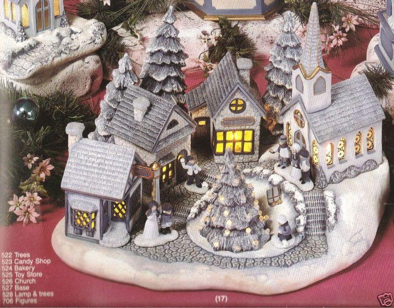 Ceramic Bisque Christmas Village Scene Scioto Mold 527 U-paint Ready To Paint