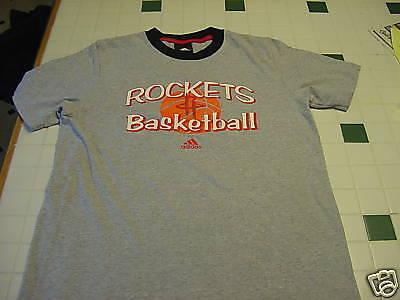 SWEET Houston Rockets ADIDAS Youth Sz XL Grey&Black T-Shirt, NEW&NICE!!