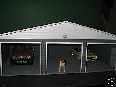 3 CAR PERSONAL GARAGE CUSTOM FOR 1:18 SCALE DIORAMA by cbcustomtoys