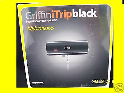 Griffin Itrip Fm Transmitter For Ipod Photo/4g/3g Black
