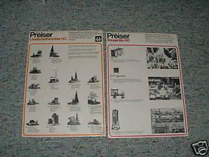 Preiser-HO-Train-accesories-1970-039-s-Lot-3