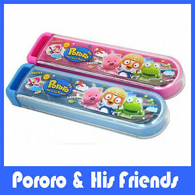 PORORO CHARACTER SPOON SET (BLUE) / Luxemoon