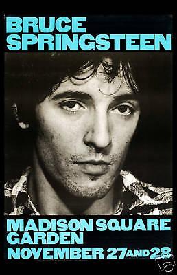Bruce Springsteen at Madison Square Garden New York Concert Poster 1980