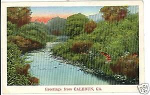 CALHOUN-GA-GEORGIA-GREETINGS-FROM-1937-POSTCARD