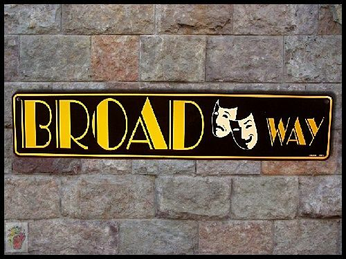 * New BROADWAY Show Stage Theater District New York Mask Metal Sign Free Ship SS