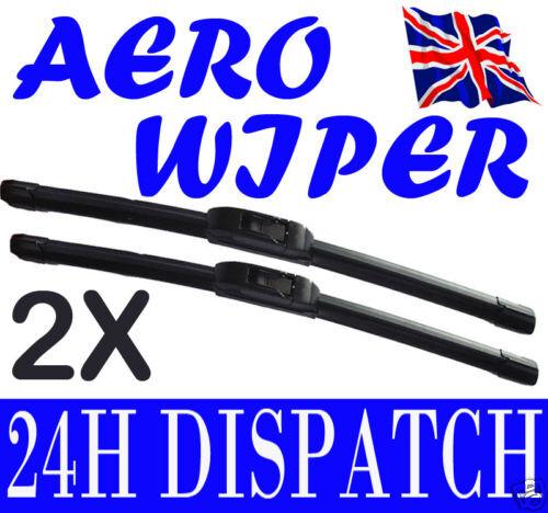 AERO FLAT WINDSCREEN WIPER BLADES LEXUS GS300 97-05