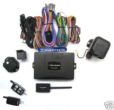 Z-202as Zenesis 2 Way Fm Security Car Alarm +remote Engine Starter Combo on sale
