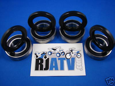 Yamaha Yfm350fgw Grizzly 4wd 2007-2012 Front Wheel Bearings & Seals Kit