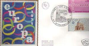 1677-8-FDC-ENVELOPPE-1er-JOUR-SOIE-EUROPA-STRASBOURG