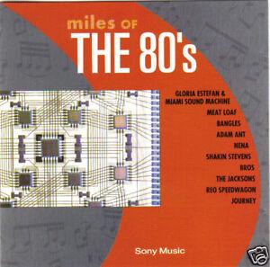 V-A-Miles-Of-The-80-039-s-UK-10-Track-CD-Album