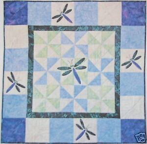 Dragonfly Quilt Wall Hanging Baby Quilt Kit with Pattern