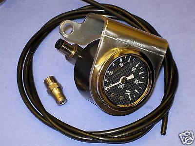 Oil pressure gauge Triumph 650 750 unit twins handlebar mount Stainless Steel
