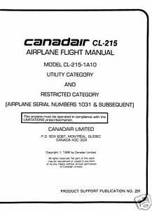 CANADAIR-CL-215-AIRPLANE-FLIGHT-MANUAL