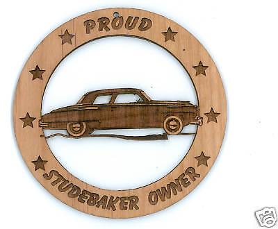 Studebaker 1950 Sedan Wood Ornament Laser Engraved