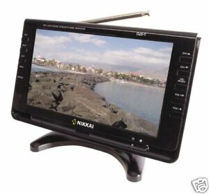 Nikkai-9-034-WideScreen-Digital-Colour-Portable-TV-amp-Freeview-Black