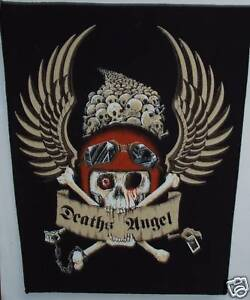 Vintage-80s-Large-Sew-On-Patch-Bikers-Deaths-Angel