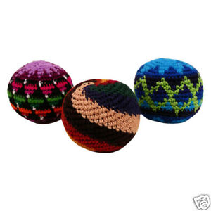 Resale-Wholesale-Pack-Hacky-Sack-Set-12-Cotton-Crocheted-Foot-Balls-Party-Fun