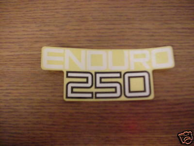 Yamaha Enduro 250 Decal J/m