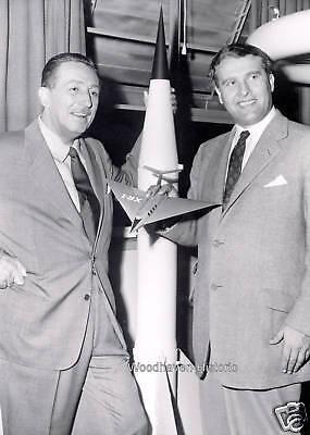 Walt Disney and Wernher von Braun 1954 5 x 7 Photo